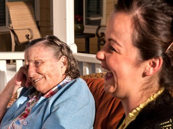 Enjoying some sun at Parkview Memory Care Community