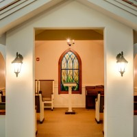 The charming chapel in Parkview Memory Care at Wheatland Vilage's Grand Room.