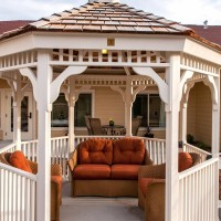 One of the lovely outdoor gazebos at Parkview Memory Care at Wheatland Viillage.