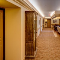Beautiful hallway at Parkview Memory Care at Wheatland Village.